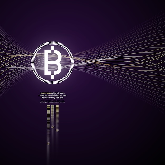 Crypto currency Vettore Premium