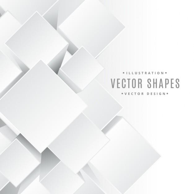 Cubi 3d forme Vettore gratuito