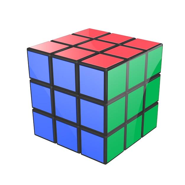 Cubo di rubik Vettore Premium