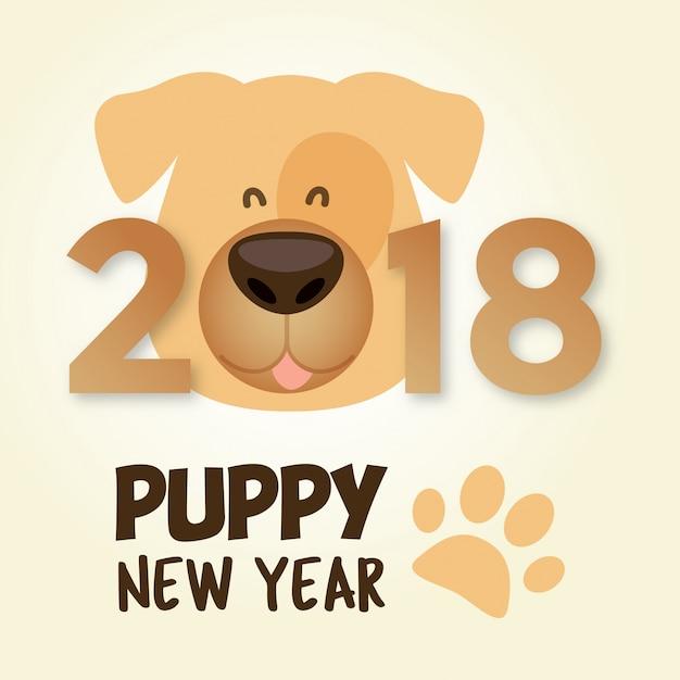 Cucciolo nuovo anno 2018 anno del cane cinese felice for Nuovo design del paesaggio inghilterra