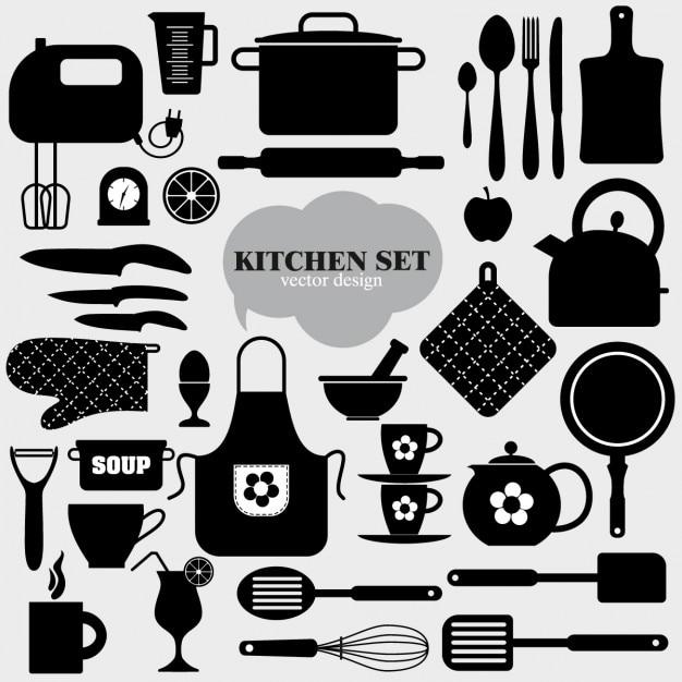 Cucina icona di sfondo Vettore gratuito