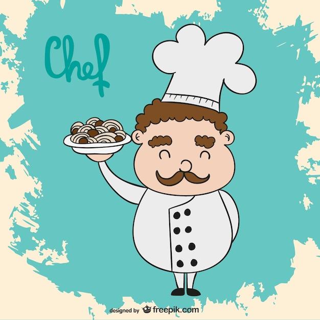 Cuoco cartone animato vettore scaricare vettori gratis