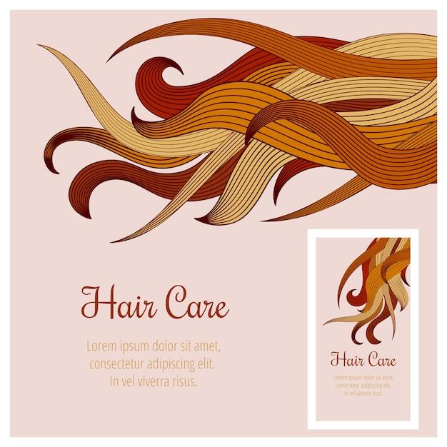 Cura dei capelli Vettore gratuito