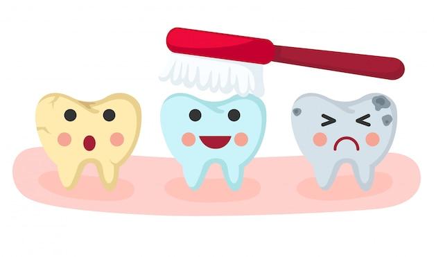 Cura dei denti Vettore Premium