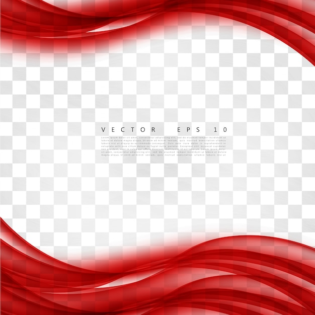 Curva di sfondo rosso Vettore gratuito
