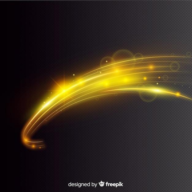 Curva effetto luce stile realistico Vettore gratuito