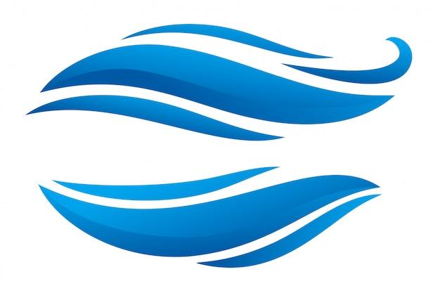 Curvy blu due forme di banner in stile design Vettore gratuito