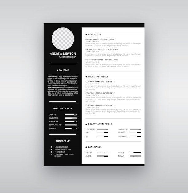 cv resume clean design template