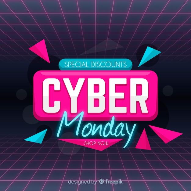 Cyber lunedì in design piatto Vettore gratuito