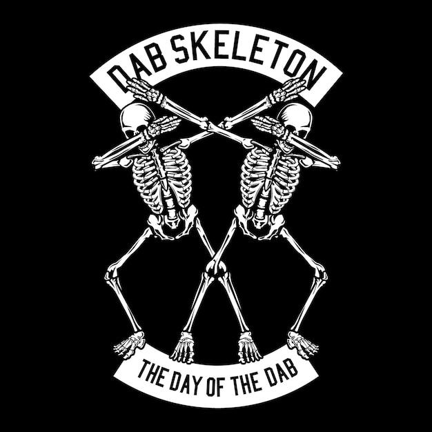 Dab skeleton Vettore Premium