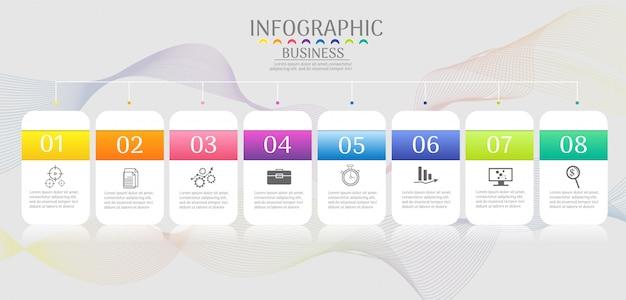 Data infographic luogo di opzioni di affari per la presentazione Vettore Premium