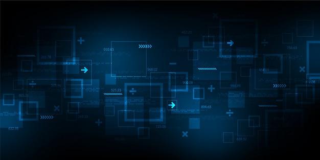Dati e sistemi digitali complessi. Vettore Premium