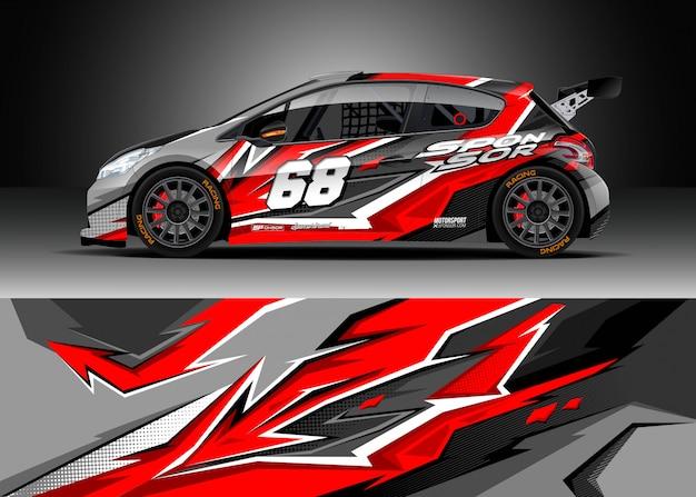 Decal design per rally Vettore Premium
