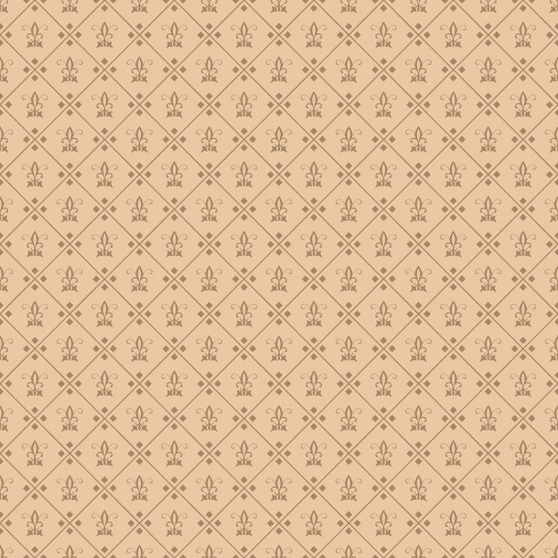 Decorative fleur de lis seamless tile carta da parati for Carte da parati decorative