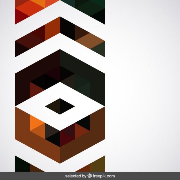 decorazione geometrica marrone scaricare vettori gratis