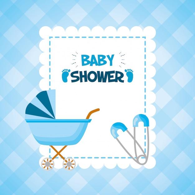 Decorazione per baby shower Vettore gratuito