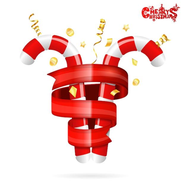 Decorazioni natalizie Vettore Premium