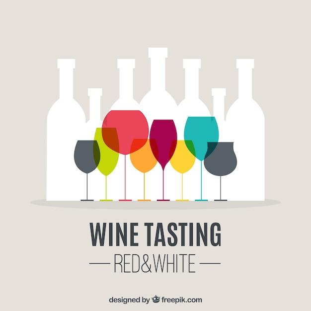 Degustazione di vini di sfondo Vettore gratuito