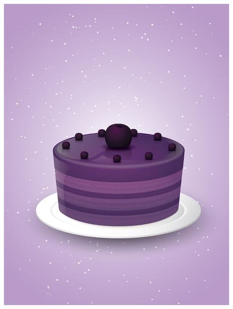 Deliziose illustrazioni di torta dolce Vettore Premium