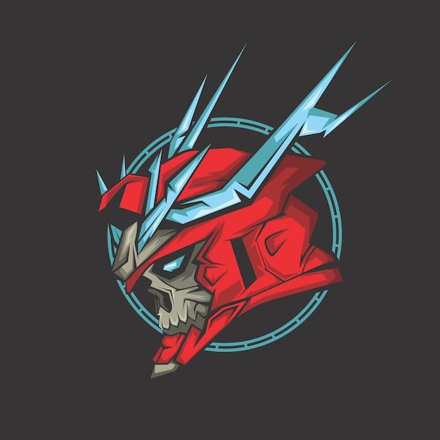Demone rosso Vettore Premium
