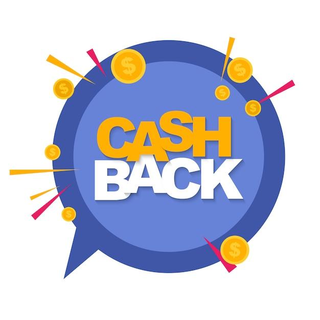 Denaro cashback con monete dollaro d'oro Vettore Premium