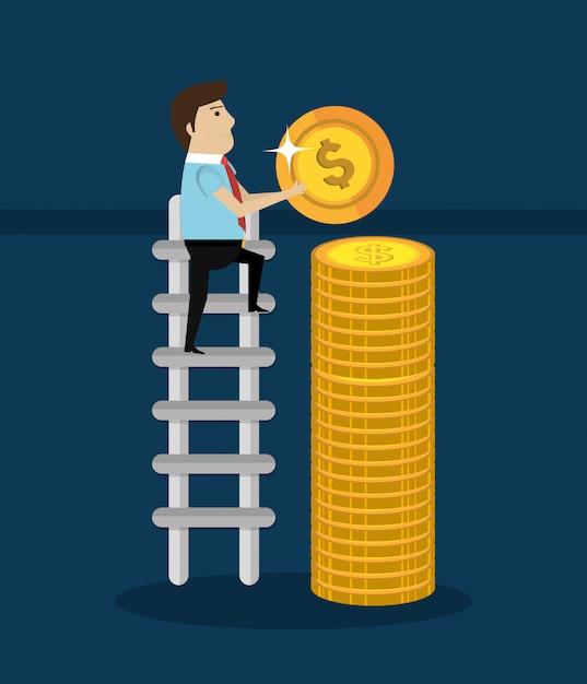 Denaro e investimenti aziendali Vettore gratuito