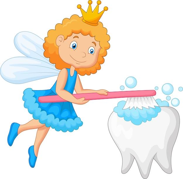 Dente spazzolino da denti Vettore Premium