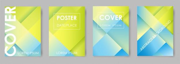 Design a gradiente luminoso per brochure Vettore Premium