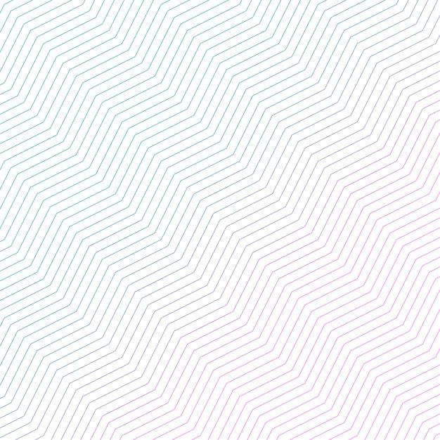 Design a zigzag diagonale minimo Vettore gratuito