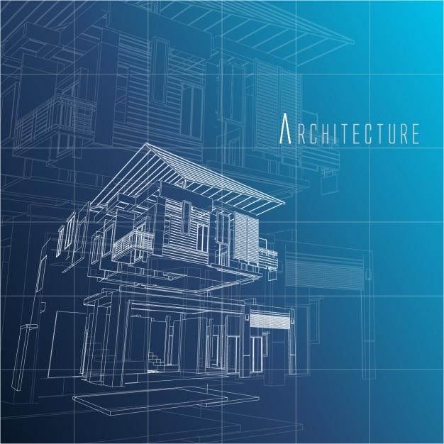 Design architettura di sfondo Vettore gratuito