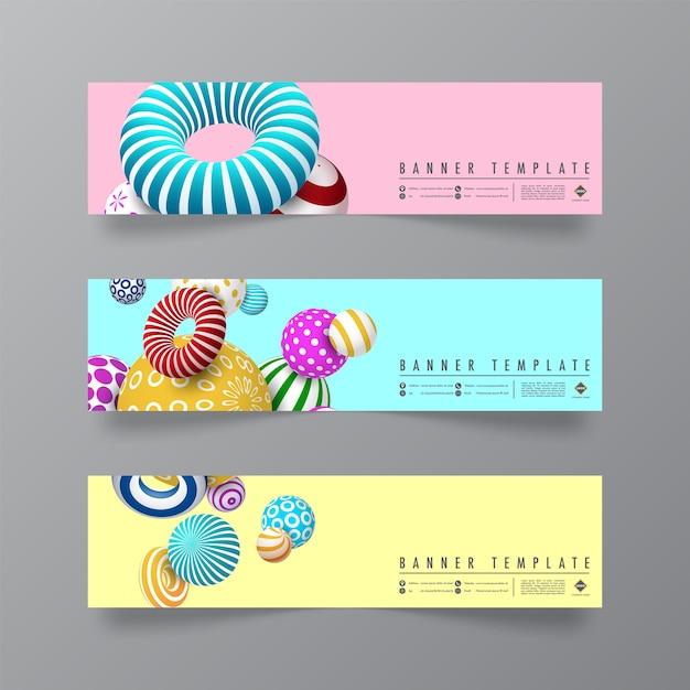 Design astratto e minimale di banner Vettore Premium