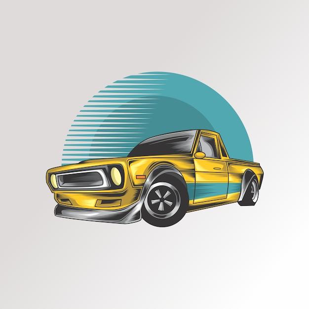 Design automobilistico Vettore Premium