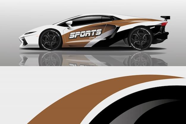 Design avvolgente per auto Vettore Premium