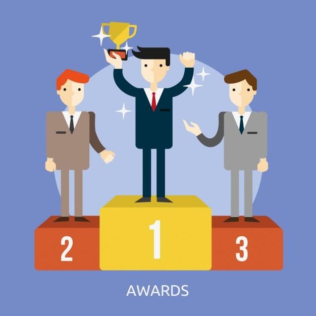 Design awards sfondo Vettore gratuito