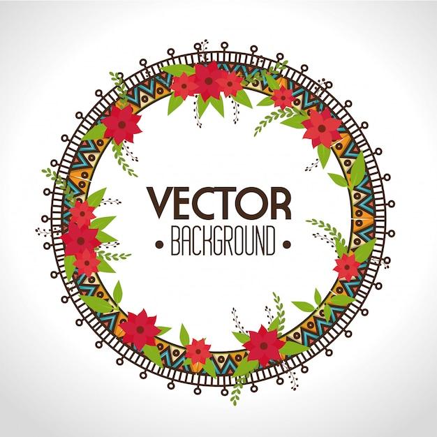 Design bohemien bacground Vettore Premium