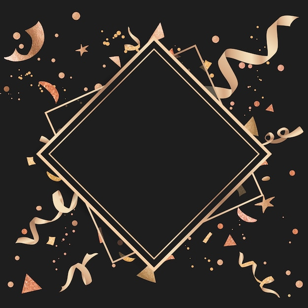 Design celebrativo coriandoli d'oro Vettore gratuito