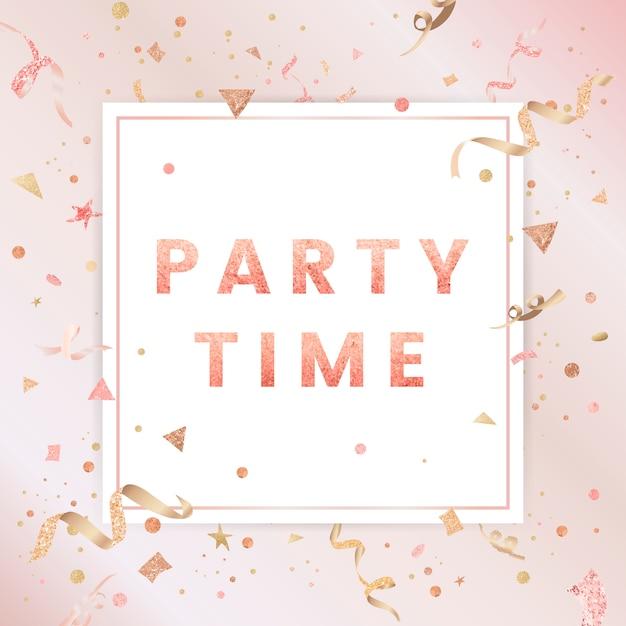 Design celebrativo di coriandoli rosa chiaro Vettore gratuito