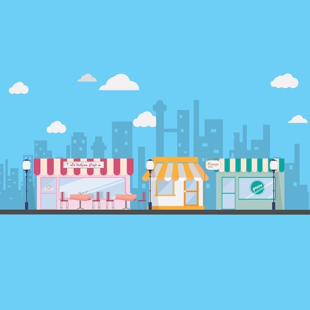Design città di sfondo Vettore gratuito