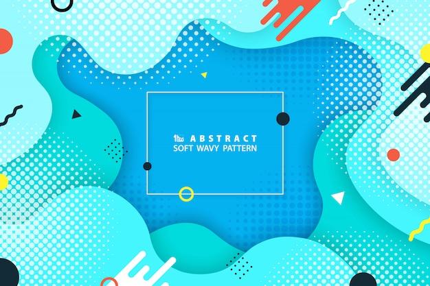 Design colorato forma geometrica di sfondo moderno Vettore Premium