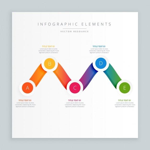 Design colorato infograph ondulato Vettore gratuito