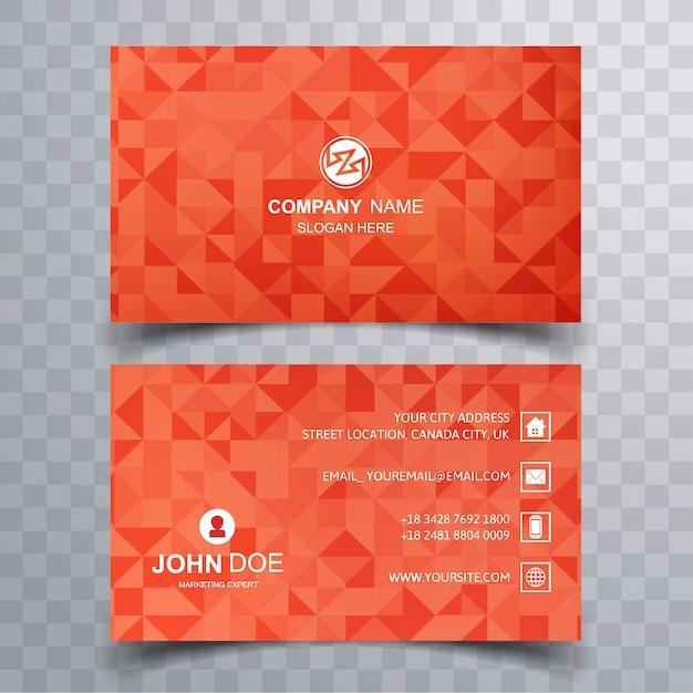 Design colorato modello di biglietto da visita Vettore gratuito