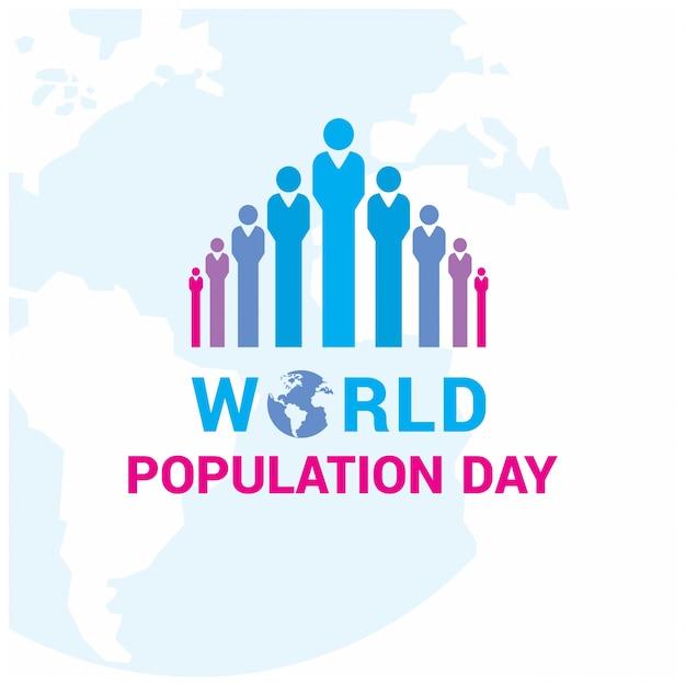 Design con figure colorate per la giornata della popolazione mondiale Vettore gratuito
