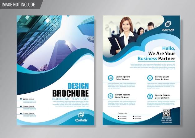 Design cover flyer e modello di business brochure per la relazione annuale Vettore Premium