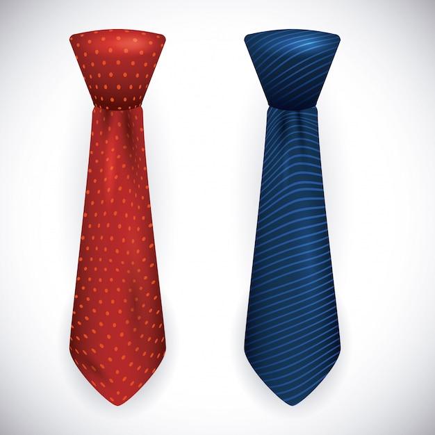 Design cravatta Vettore Premium