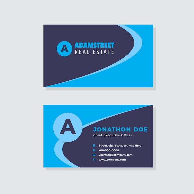 Design creativo biglietto da visita dell'agenzia Vettore Premium