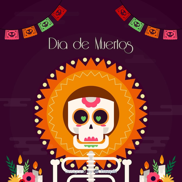 Design creativo del dia de muertos Vettore gratuito