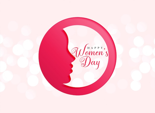 Design creativo della felice festa della giornata della donna Vettore gratuito