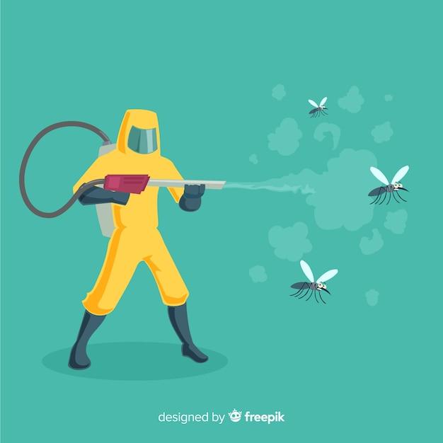 Design creativo di controllo delle zanzare Vettore gratuito