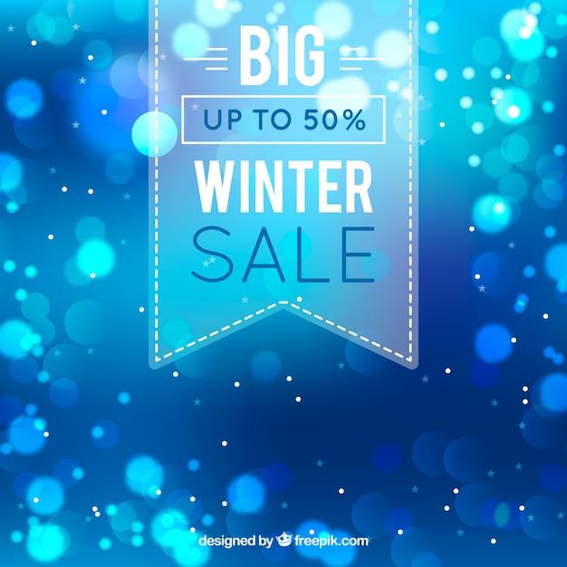 Design creativo di vendita invernale blu Vettore gratuito