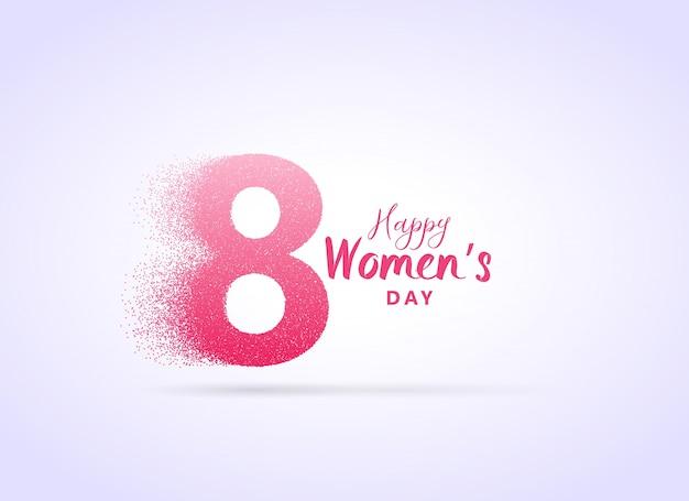 Design creativo giorno womans con la lettera 8 realizzato con particelle Vettore gratuito